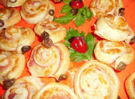 Chioccioline di pasta sfoglia salate