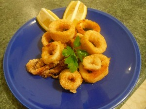 Calamari panati al forno